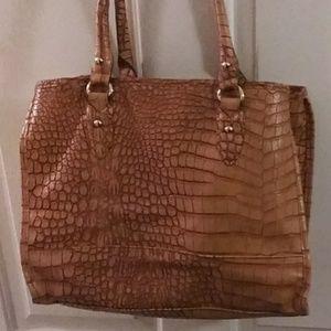 Ladies faux gator purse